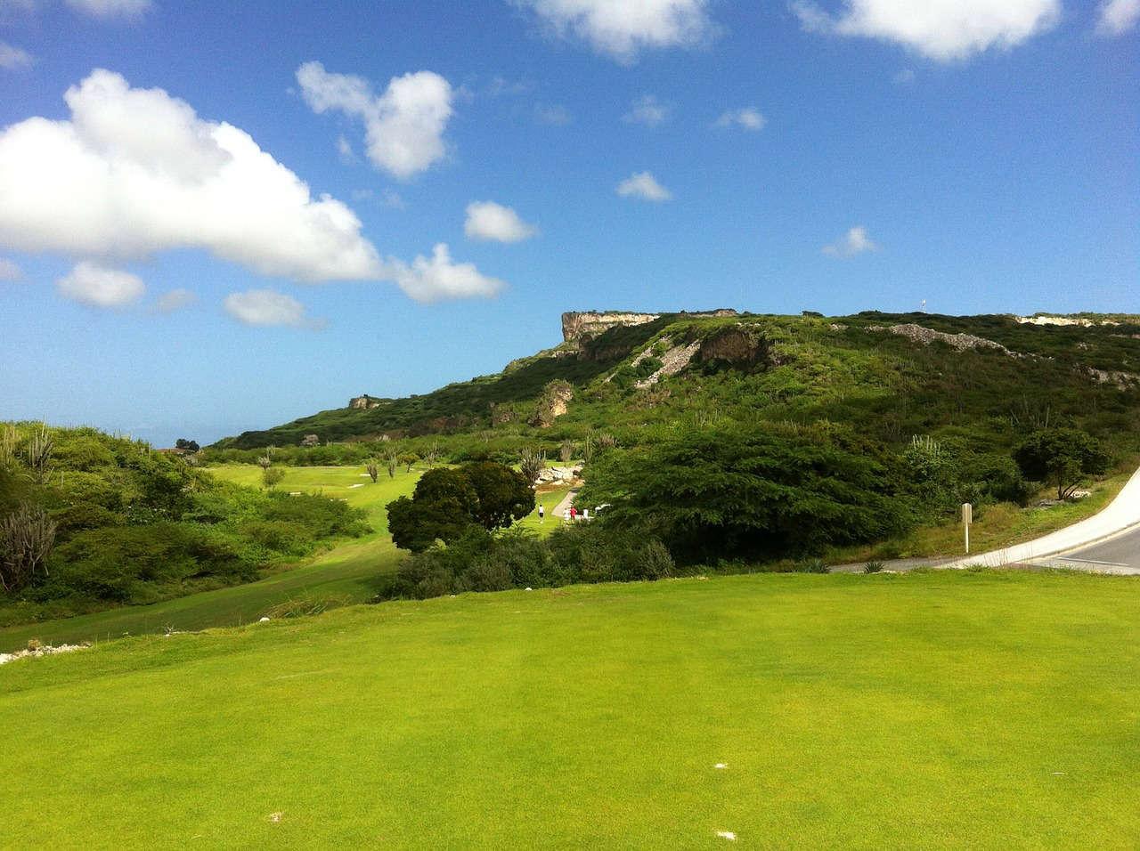 Der gepflegte Golfplatz