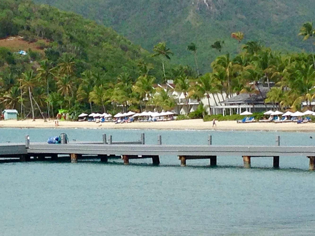 Der Ausblick auf den Strand