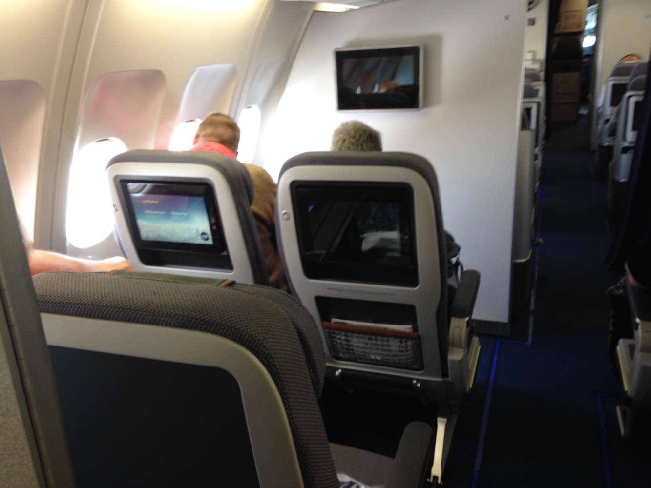 """Premium Economy der Lufthansa - Abstand zum """"Vordermann"""""""