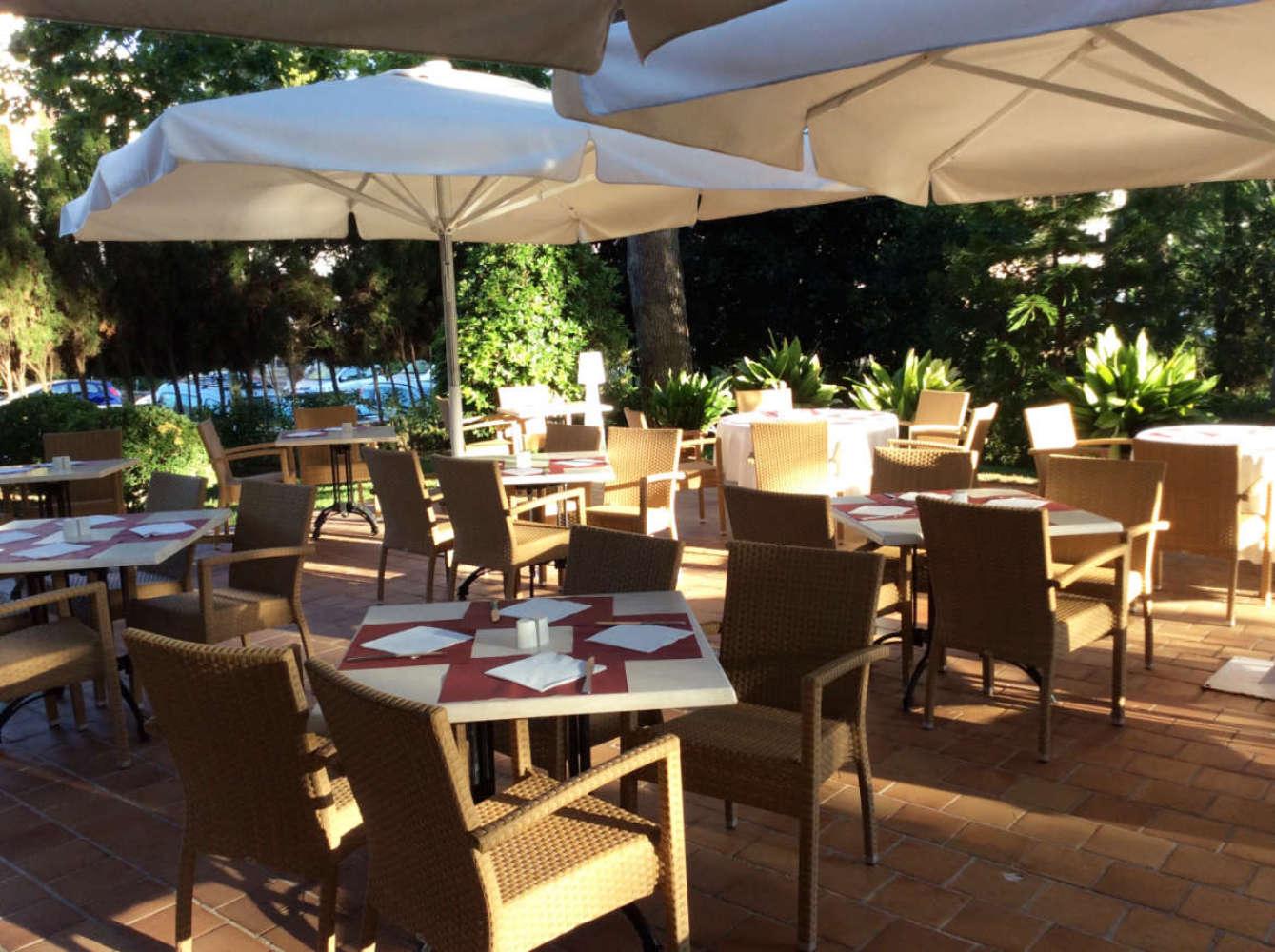Das Restaurant im Gartenbereich