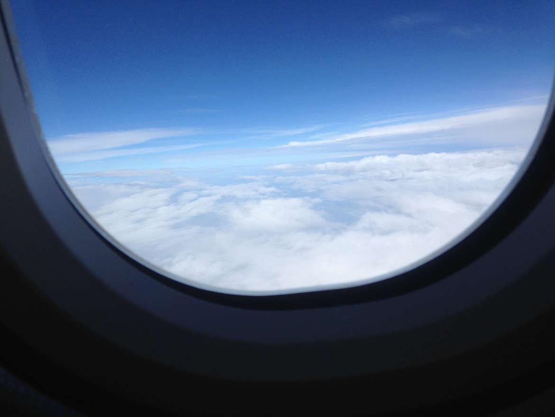 Mit Lufthansa über den Wolken