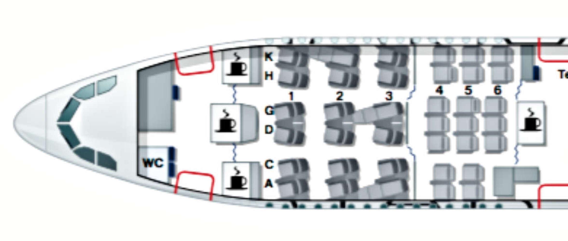 Die Kabine in der Premium Economy der Lufthansa