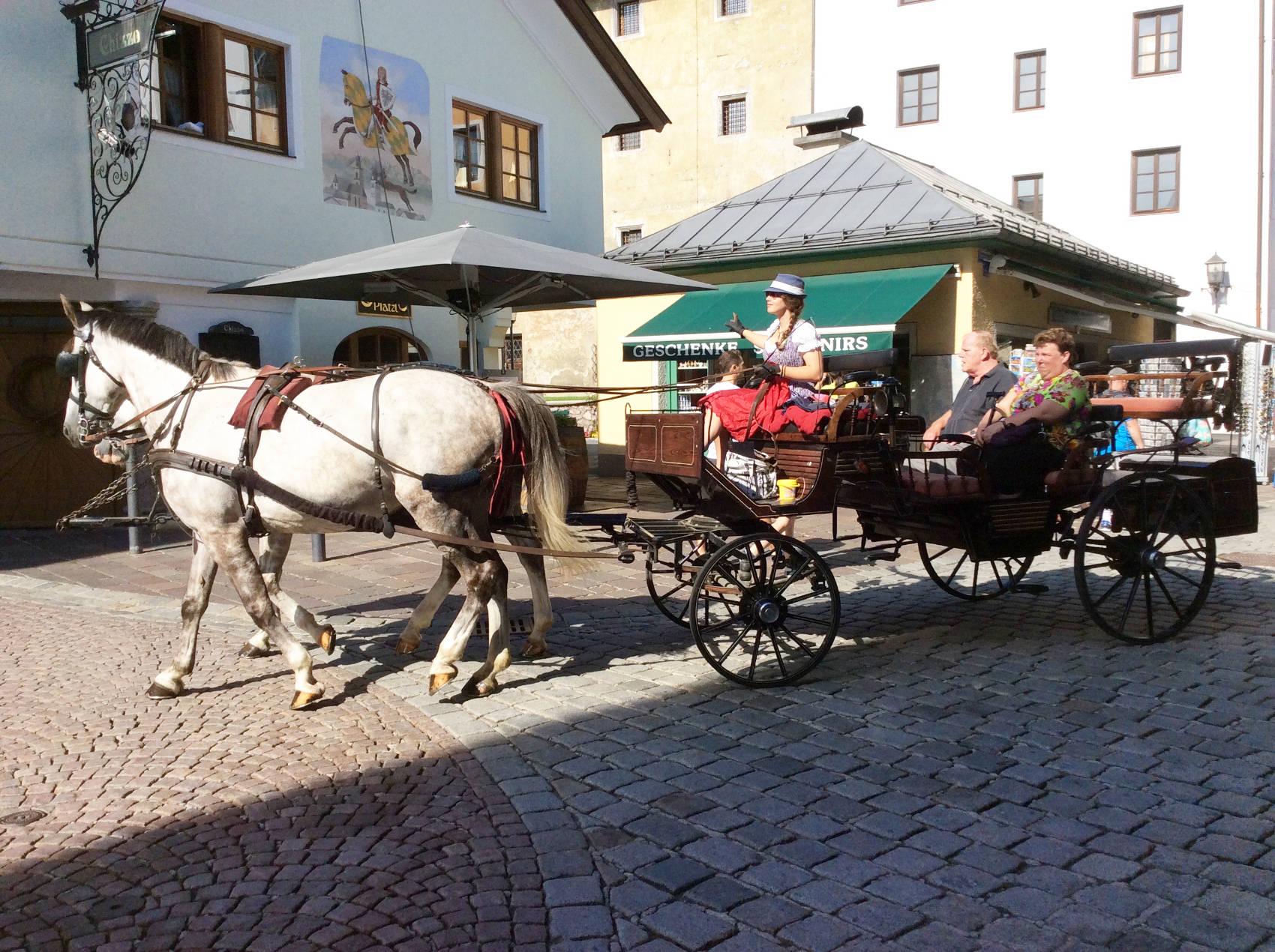 Per Kutsche durch Kitzbühel