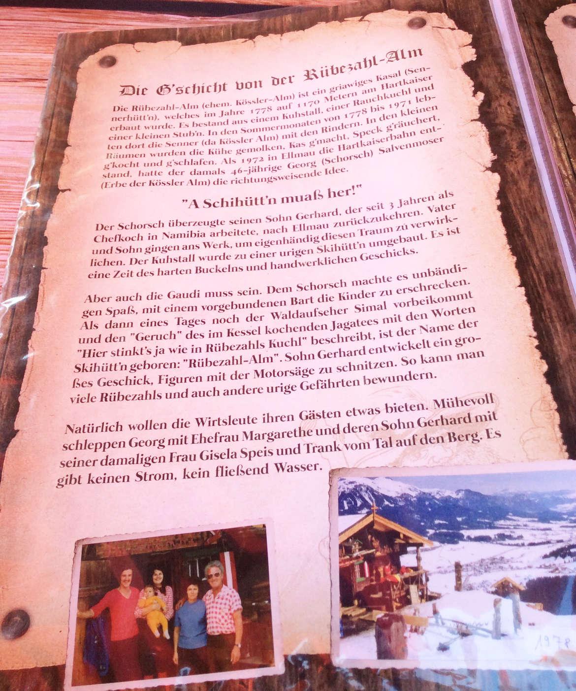 Die Geschichte der Rübezahl Alm