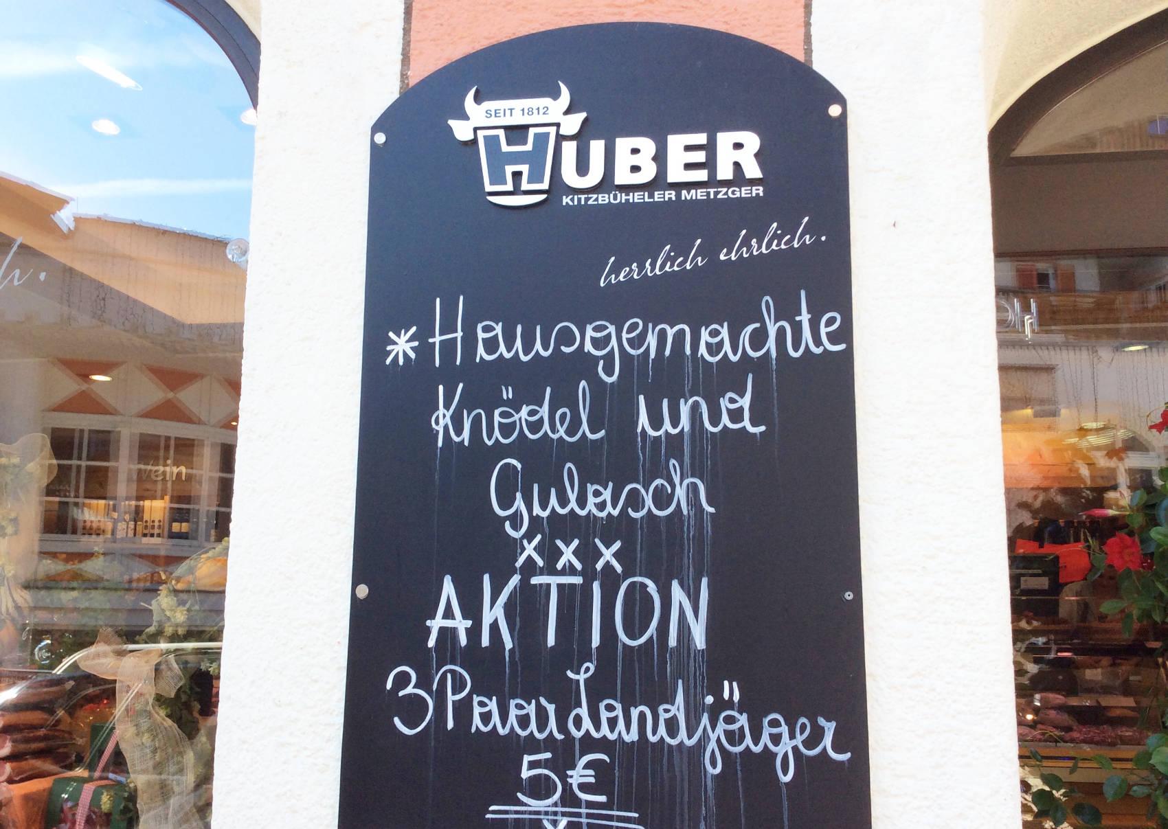 Metzger Huber: Heute im Angebot