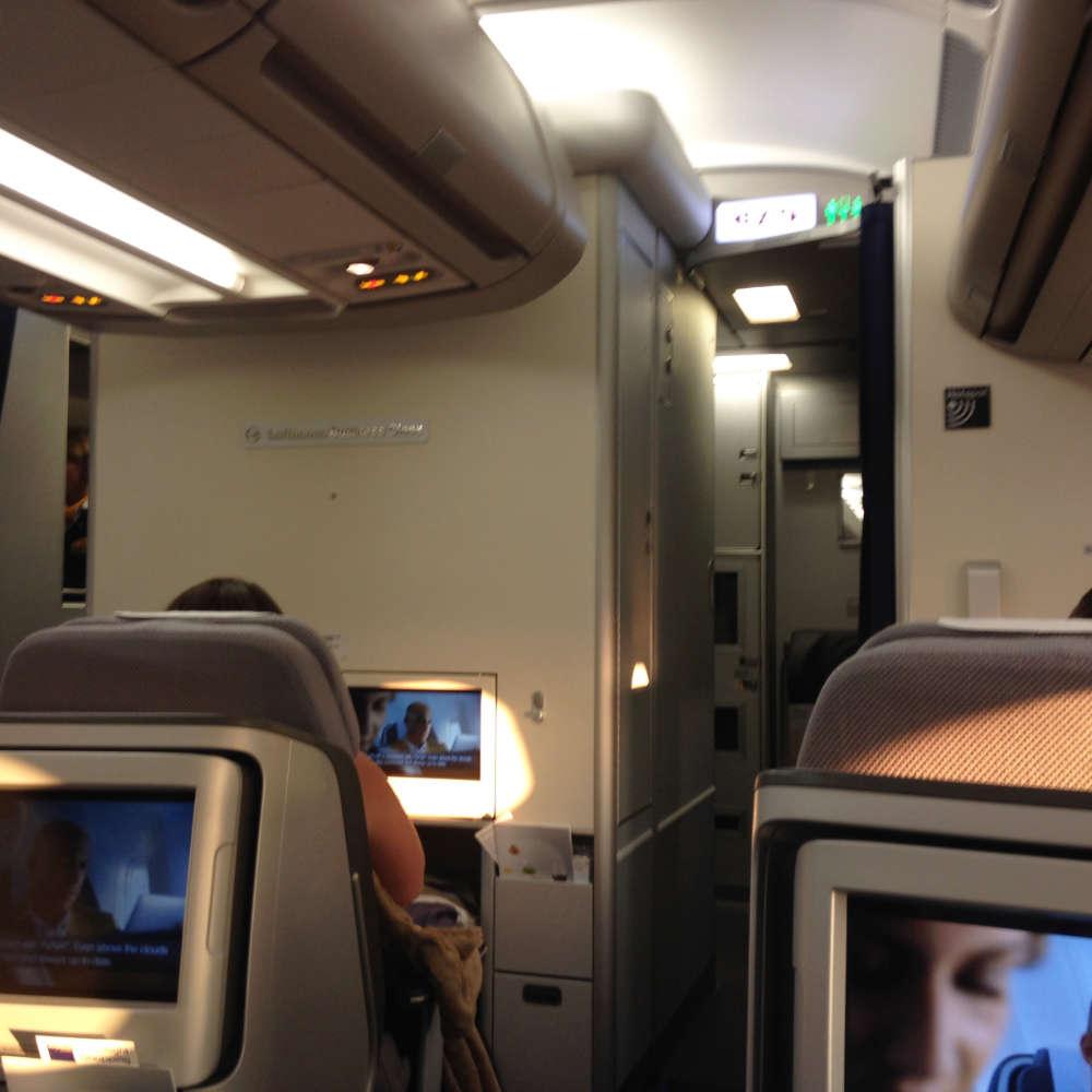 Die Business Class der Lufthansa