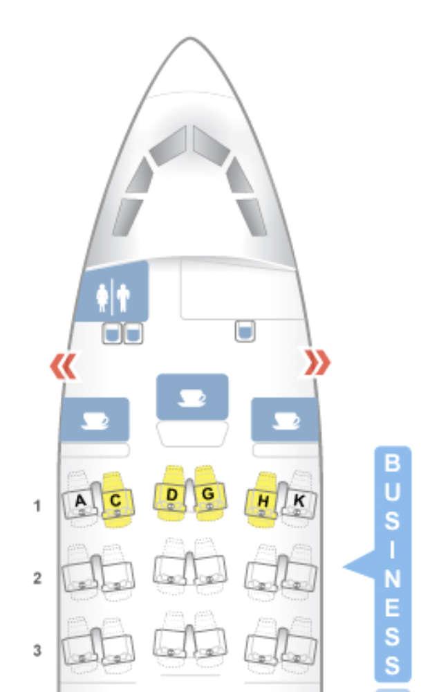 Business Class der Lufthansa