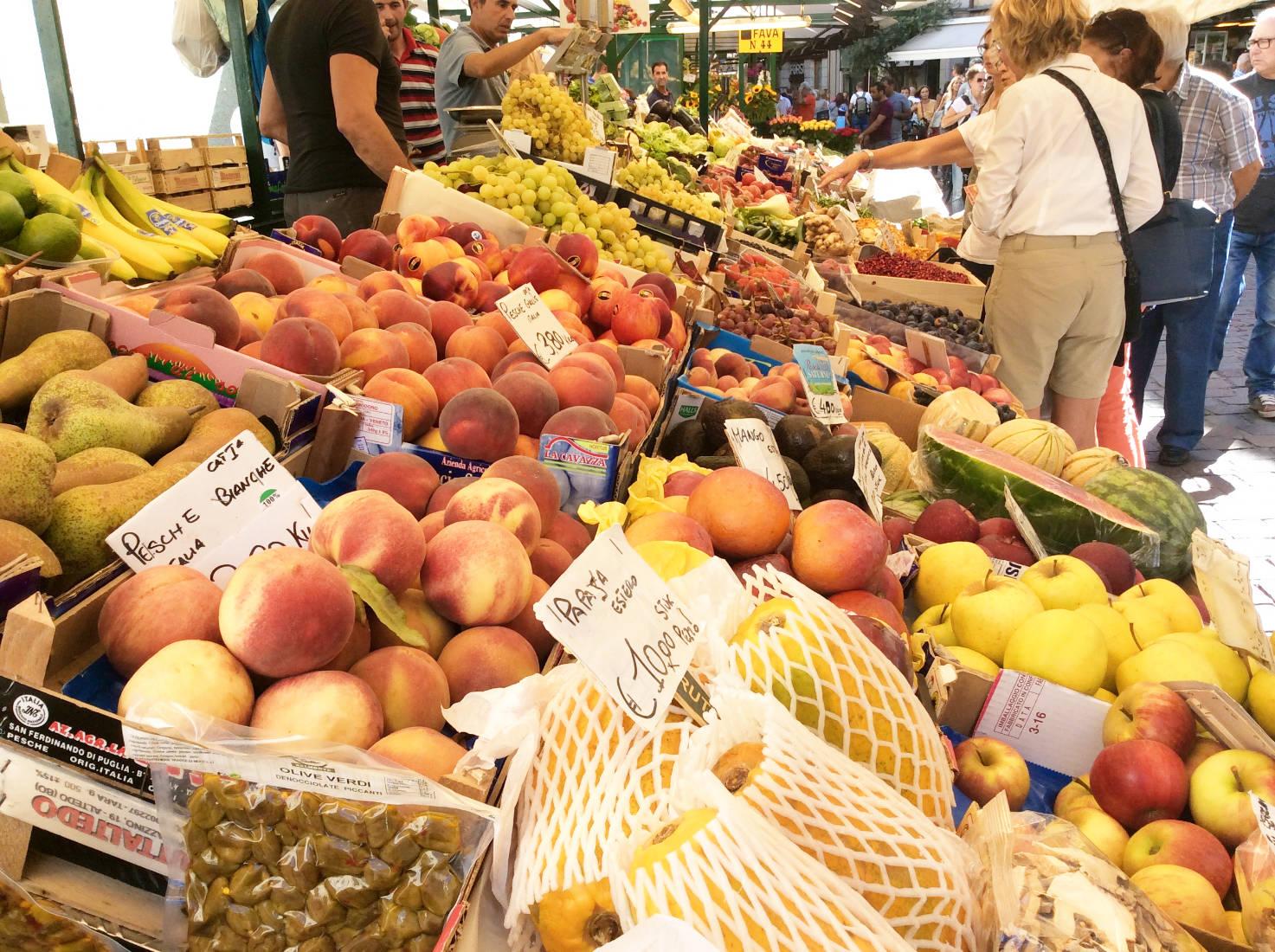 Marktstand in Bozen