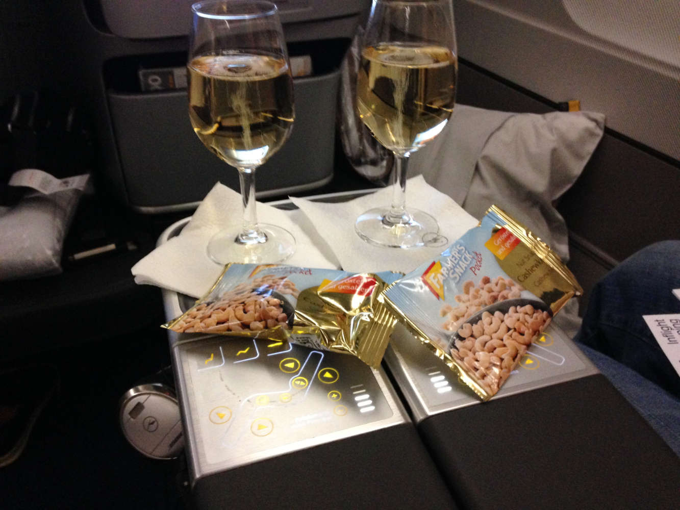 Champagner in der Business Class