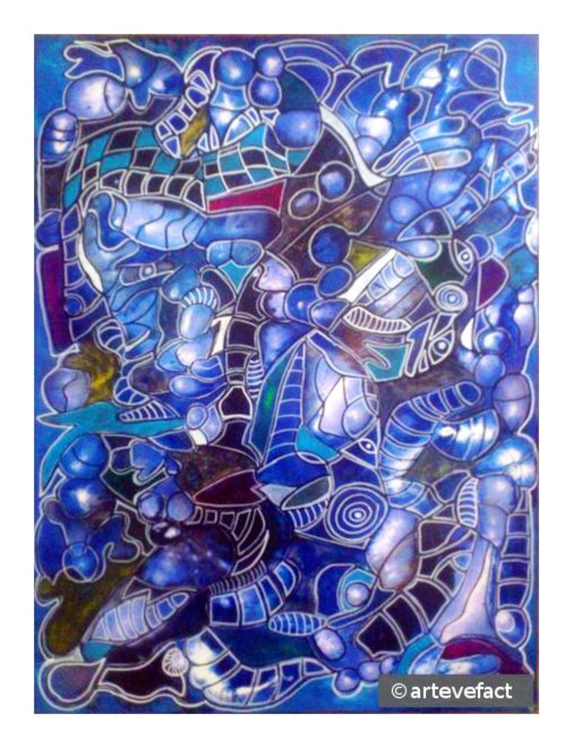 The Blue Wizzard, mixed media on canvas, 60 x 80cm, 2016