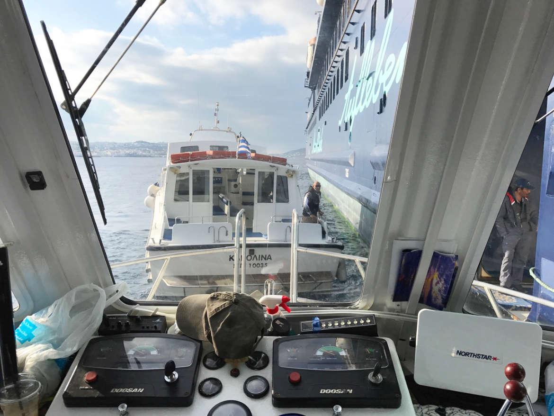 Tenderboot auf Mykonos