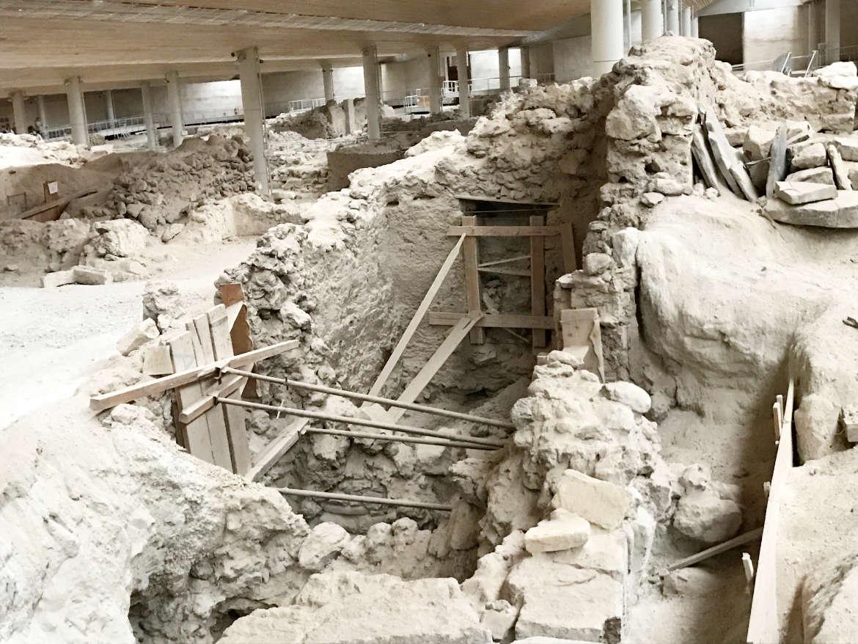 Santorini Ausgrabungen