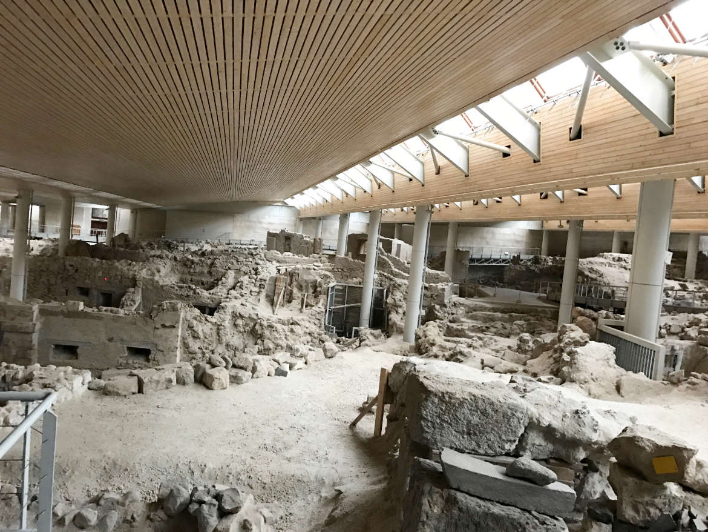 Santorin - Ausgrabung