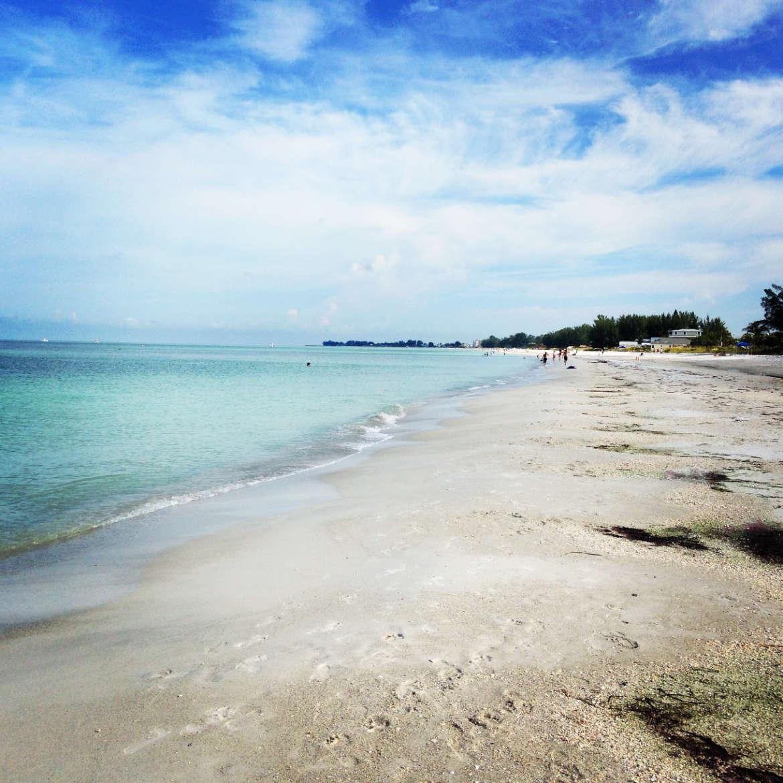 Der endlose Strand von Anna Maria Island
