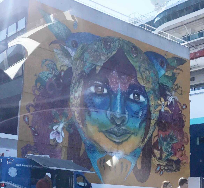 Bemalte Wände in Salvador