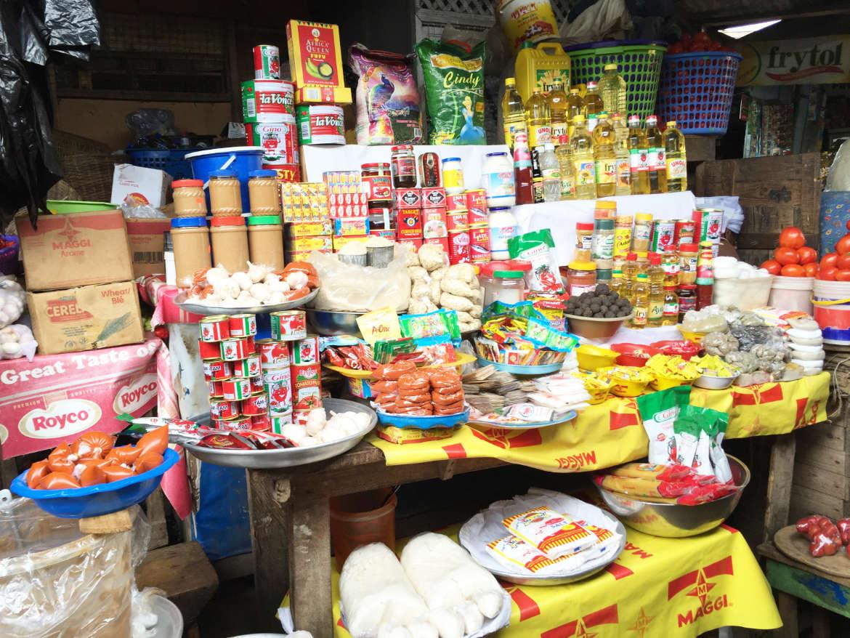Auf dem Markt in Ghana