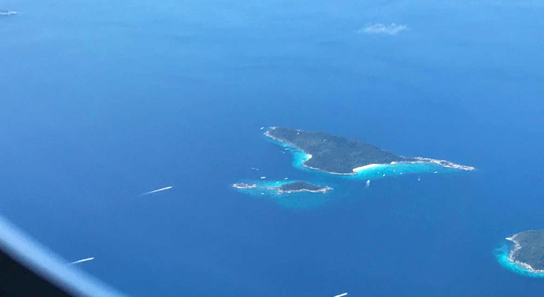 Die thailändische Inselwelt von oben