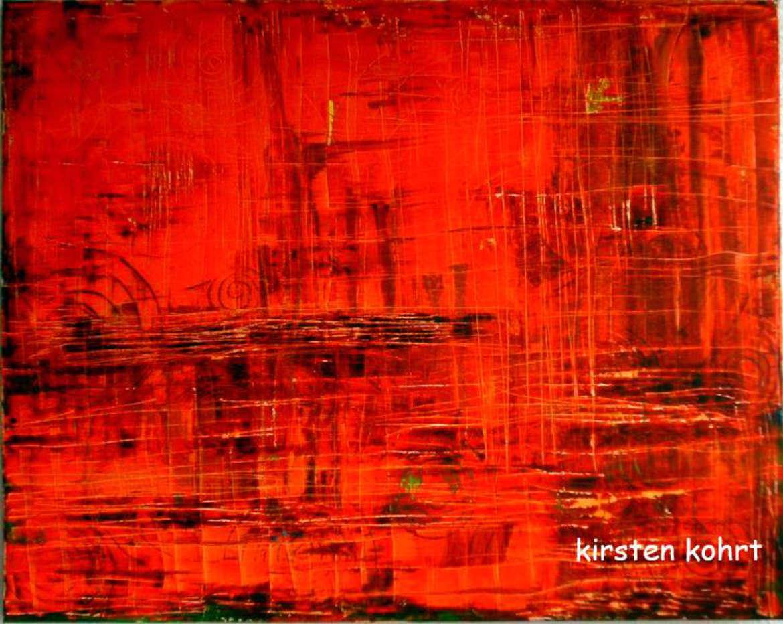 """Kirsten Kohrt / """"Sonnensturm"""" , Canvas,80x100cm"""